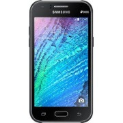 "Telefon Mobil Samsung Galaxy J1 Ace, Procesor Dual-Core 1.3GHz, Super AMOLED capacitive touchscreen 4.3"", 512MB RAM, 4GB Flash, 5MP, Wi-Fi, 3G, Dual Sim, Android (Negru) + Cartela SIM Orange PrePay, 6 euro credit, 6 GB internet 4G, 2,000 minute nationale"