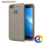 Huawei Y6 Pro (2017) / P9 lite mini Удароустойчив Litchi Skin Калъф и Протектор