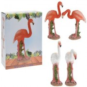 Decoratie flamingo polystone 16 cm