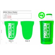 ProteinFutár Wave Shaker 600ml Poison Green