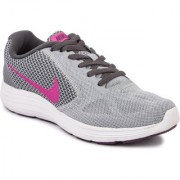 Nike Men's Wmns Revolution 3 Gray Sports Shoes
