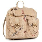 Раница PINKO - Love Mini Backpack Furry Al 20-21 PLTT 1P21T8 Y6JT Beige C72