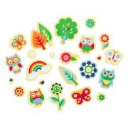 208 Groovy Rainbow Grove Peel Off Foam Stickers~Owls~Rainbows~Flowers