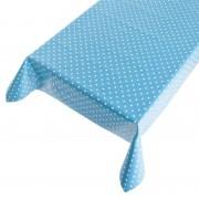 Geen Blauw buiten tafelkleed/tafelzeil polkadot 140 x 170 cm