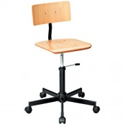 Houten werkplaatsstoel - Laag
