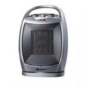 Вентилаторна печка Rohnson R 8057, 2 степени, вентилатор, защита от прегряване, въртяща основа, ниски нива на шум, 1500W, сива