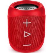 Boxa Portabila Sharp GX-BT180(RD), 14W, Bluetooth, Rezistenta la stropi de apa (IP56), Autonomie 10 ore (max.), Rosu