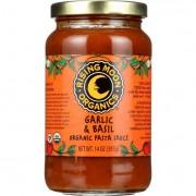 Rising Moon Organics Pasta Sauce - Organic - Garlic and Basil - 14 oz - case of 12