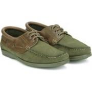 Woodland Boat Shoes For Men(Olive)