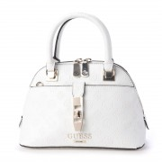 【SALE 30%OFF】ゲス GUESS PEONY CLASSIC SMALL DOME SATCHEL (IVORY) レディース