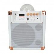 HolySmoke iDisco Mini V2 - Bluetooth Party Speaker - White/Rose gold