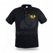Julius-K9 tricou cu guler pentru bărbați - negru L (12GK9-S-L)