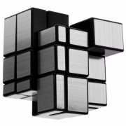 Cubo Rubik Shengshou Mirror 3x3 Plateado Magic Cube