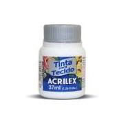 Tinta p/tecido fosca 37ml branco 04140 Acrilex