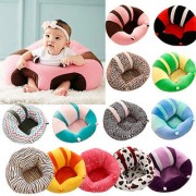 Baby Support Seat Cushion Sofa Cotton Sit Up Chair Plush Pillow Toy (Multi color)