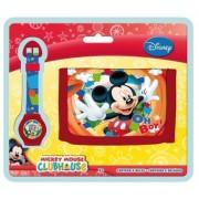 Set cadou ceas digital + portofel Mickey Mouse
