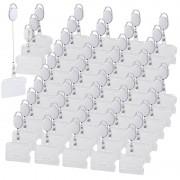 General Office 50er-Set Ausweishüllen aus Hartplastik, 60-cm-Jojo-Befestigungs-Clip