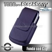 Funda Vertical 9000 9800 con Clip Azul Obscuro