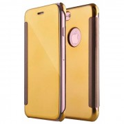 Capa Iphone 7, Iphone 8 Flip Book Clear View Dourado