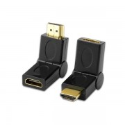 HDMI Port Saver Male to Female HDMI Adapter Swiveling Type