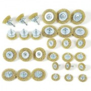DIY Crafts Wire Brush Wheels 30-Piece Cup Brush Set with 1/4-Inch Hex Shank