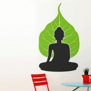 Buddha With Leaf Background 5717