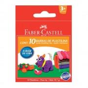 Plastilina 10 culori/set 90 g FABER-CASTELL