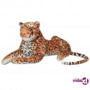 vidaXL Igračka Leopard Pliš Smeđa boja XXL