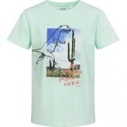 Endo T-shirt z krótkim rękawem dla chłopca, z dinozaurem, niebieski, 9-13 lat