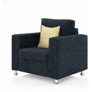 furniture4U - Fully Upholstered Single-Seater Sofa - Premium Valencia Dark Blue