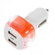 USB зарядно за кола - оранжево