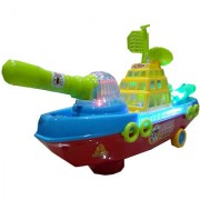 OH BABY BABY 3D LIGHT MUSICAL POWER WITH AUTOMATIC SENSOR GREEN COLOR FIRE BATTL SHIP FOR YOUR KIDS SE-ET-23