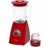 Blender de masa Oursson BL0642G/RD, 600 W, Vas de sticla 2 l, Shake 22000 rpm, Rasnita, 7 viteze, Rosu