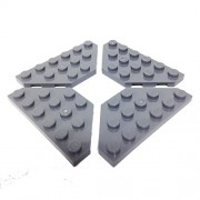 Lego Parts: Wedge Plate 3 x 6 Cut Corners (PACK of 4 - DBGray)