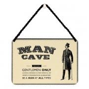 hang-ups! - tinnen bordje - man cave gentlemen only