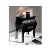 Mesita de noche barroca negro m-95