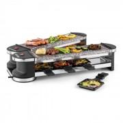 Tenderloin 100 Grelhador Eléctrico Raclette 2x Placa de Pedra Natural 8 Pessoas 1200W