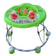 Oh Baby Baby Round Shape 2 Big Rattle Green Color Walker For Your Kids OTP-YAH-SE-W-87