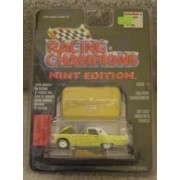 1956 YELLOW FORD THUNDERBIRD -RACING CHAMPIONS MINT CONDITION DIE CAST EMBLEM & VEHICLE WITH DISPLAY