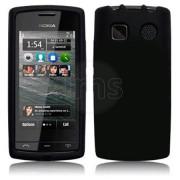 Nokia 500 Силиконов Калъф Черен + Протектор