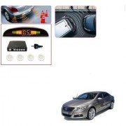 Auto Addict Car White Reverse Parking Sensor With LED Display For Volkswagen Passat
