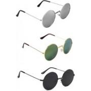 Rich Club Round Sunglasses(Blue, Green)