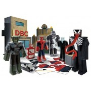 Ultimate Spider-Man Set Papercraft Battle At Oscorp Deluxe Pack
