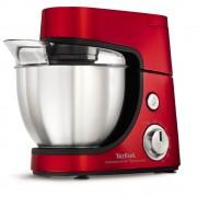 Robot de bucătărie TEFAL Masterchef Gourmet QB504G38, 900 W, Bol 4,6 L, Blender 1.5 L, 5 Functii, Accesorii patiserie, Rosu