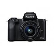 Canon Cámara Mirrorless CANON M50+EF-M 15-45MM IS (Negro - 24.1 MP - Sensor: APS-C - ISO: 100 a 6400)
