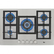 Plita incorporabila Teka EFX 70 5G DR AI AL CI, Gaz, 5 arzatoare, Aprindere electrica, Gratare fonta, Inox, 70 cm