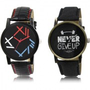 The Shopoholic Black Combo Treny and Precious Black Dial Analog Watch For Boys Watches Men Stylish