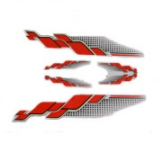 Spidy Moto Scooter Sticker Red Graphics Accessories Universal for All Scooty (Set of 5 Pc)