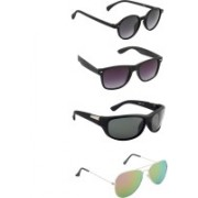 Irayz Oval Sunglasses(Green, Black)