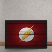 Quadro Decorativo The Flash Logo Mural Minimalista DC Comics 25x35